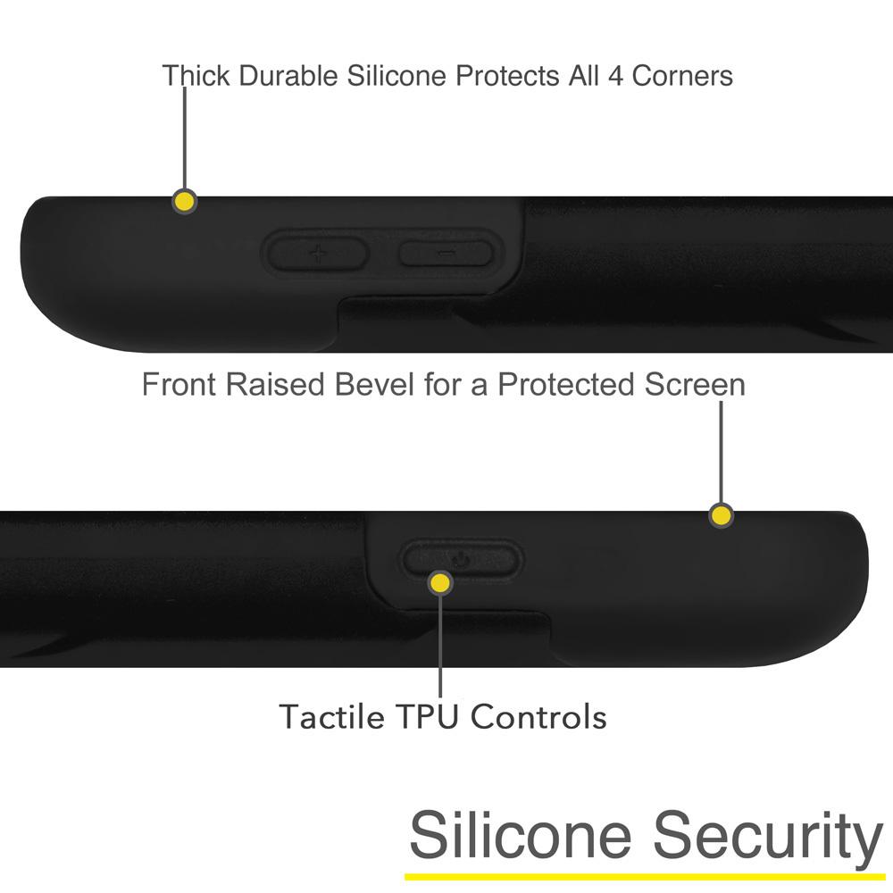 Amzer® Double Layer Hybrid Case with Kickstand - Black/ Black 97605