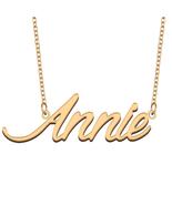 Annie Name Necklace for Best Friends Family Girl Friend Birthday Gifts - $13.99+