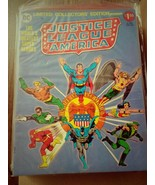 SUPERMAN JUSTICE LEAGUE OF AMERICA Oversized Treasury comic book-DC Silv... - $35.99