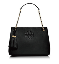 Tory Burch Thea Chain Shoulder Slouchy Tote Black Color for Woman with F... - £179.54 GBP