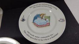Wedgwood England Peter Rabbit Children 3 Piece Nursery story Set bowl plate cup image 7