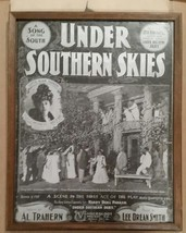 Framed Under Southern Skies Lottie Blair Parker Photo, 1902 Antique Shee... - $14.50