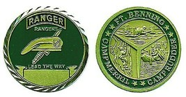 ARMY RANGER CAMP RUDDER MERRILL FT BENNING CHALLENGE COIN  - $18.04