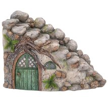 Miniature Fairy Garden of Enchantment Curved Stone Cottage Figurine Disp... - ₨1,297.89 INR