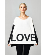 Womens Girls LOVE Color Block Oversized Comfy Soft Casual Fashion Sweat Shirt - $32.00
