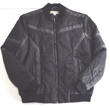 Calvin Klein Jeans Men's Gasoline Racer Puffer Jacket Storm Grey Black S... - $98.01