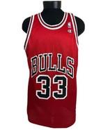 Vintage Champion Jersey Chicago Bulls Scottie Pippen #33 NBA 90s Red 48 - $67.00