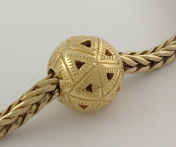 Authentic Trollbeads 18k Gold Triangles Bead Charm 21812, New - $569.99
