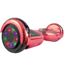 Hoverboard in Red Chrome with Bluetooth Speakers - $204.28 CAD