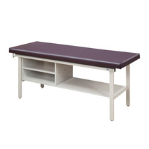 Clinton Treatment Table w/Shelving 27in-Clamshell - $1,083.20