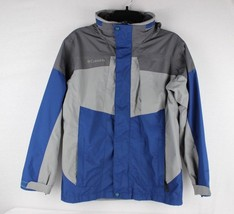 Columbia Interchange youth boys kids hooded vintage blue gray size 14-16 - $25.81