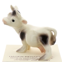 Hagen-Renaker Miniature Ceramic Cow Figurine Spotted Mama and Baby Calf image 9