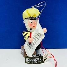 Hersheys Christmas ornament Kurt Adler collector series elf dwarf list t... - $12.55