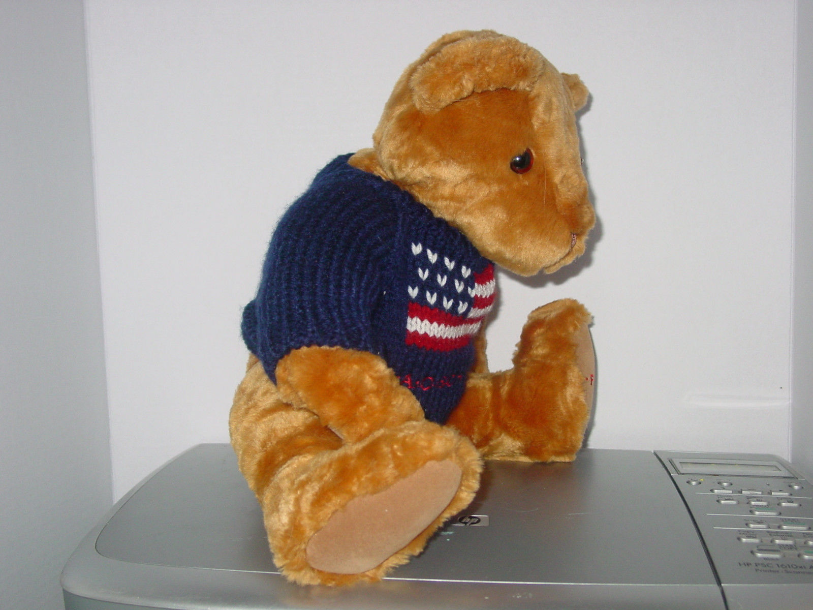 "FAO Schwartz 15"" Fully Jointed Soft Teddy Bear with Sweater"