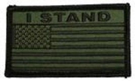 I Stand Od Green Flag 2 X 3 Embroidered Patch With Hook Loop - $17.14