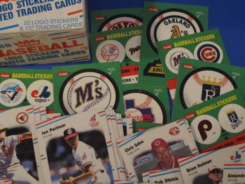 1988 Fleer Baseball 22 Logo Stickers & 132 Trading Cards image 5
