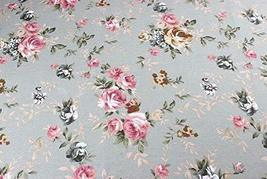[Rose] 1.5M Wide Handmade Cotton Canvas Stripe Fabric (2x1.5M)
