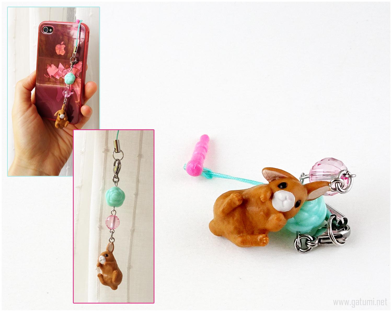 Brown Rabbit Phone Charm Plug, Fairy Kei, Sweet Lolita