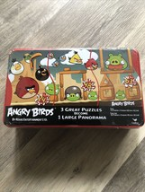 NIB/ Angry Birds  Puzzle Tin - 3 Great Puzzles Become 1 Panorama - $9.00