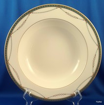 """Mikasa Laurent Rimmed Vegetable Pasta Serving Bowl Ivory Green and Gold 10"""" - $28.71"""