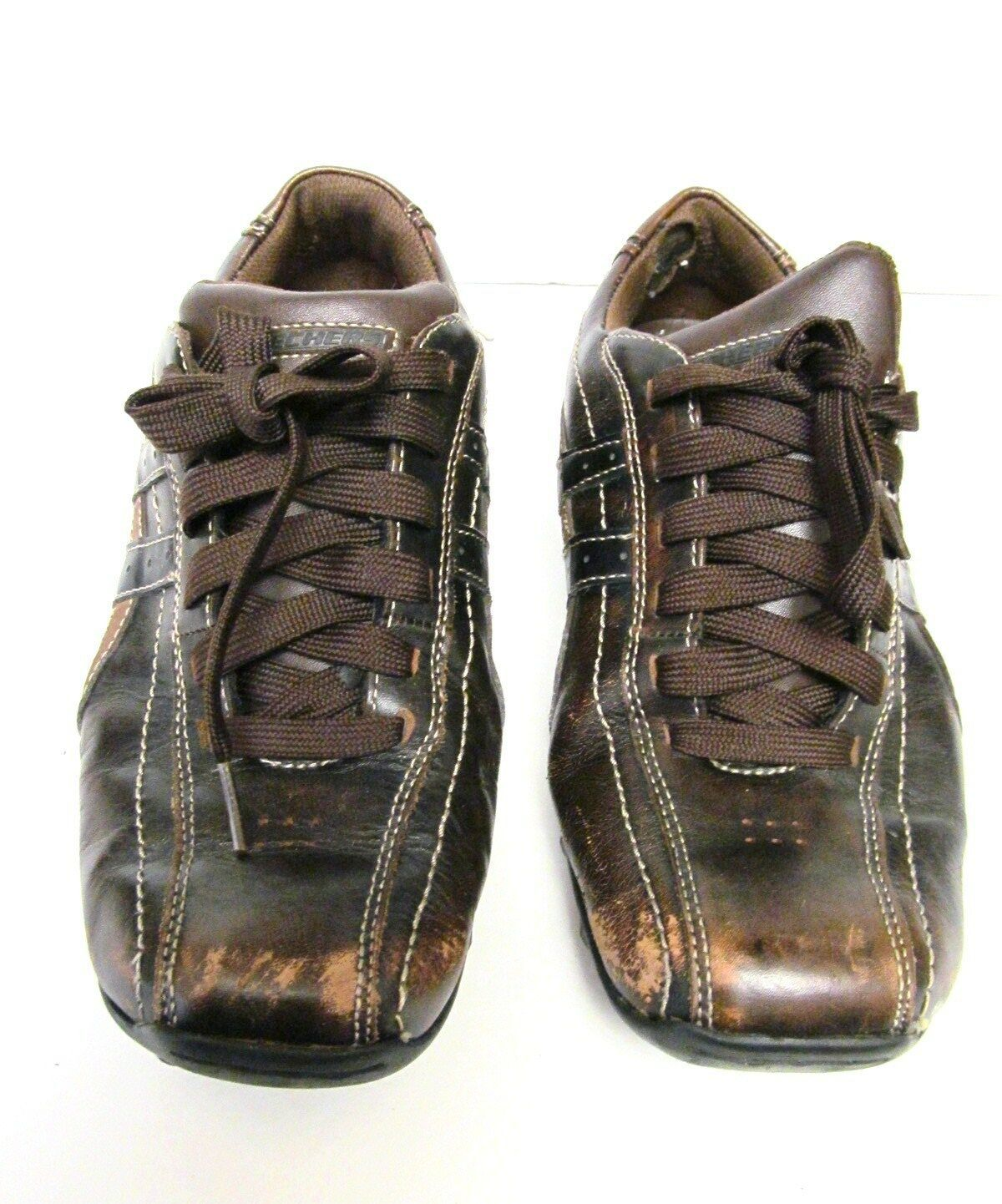 Skechers Talus Ultimatum Leather Lace up Sneakers Shoes 61181 Brown US Size 9