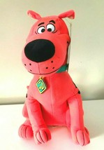 """New Scooby -Doo Plush Toy Fluorescent Hot Pink. Large 12"""". Soft . Licensed. NWT - $13.71"""