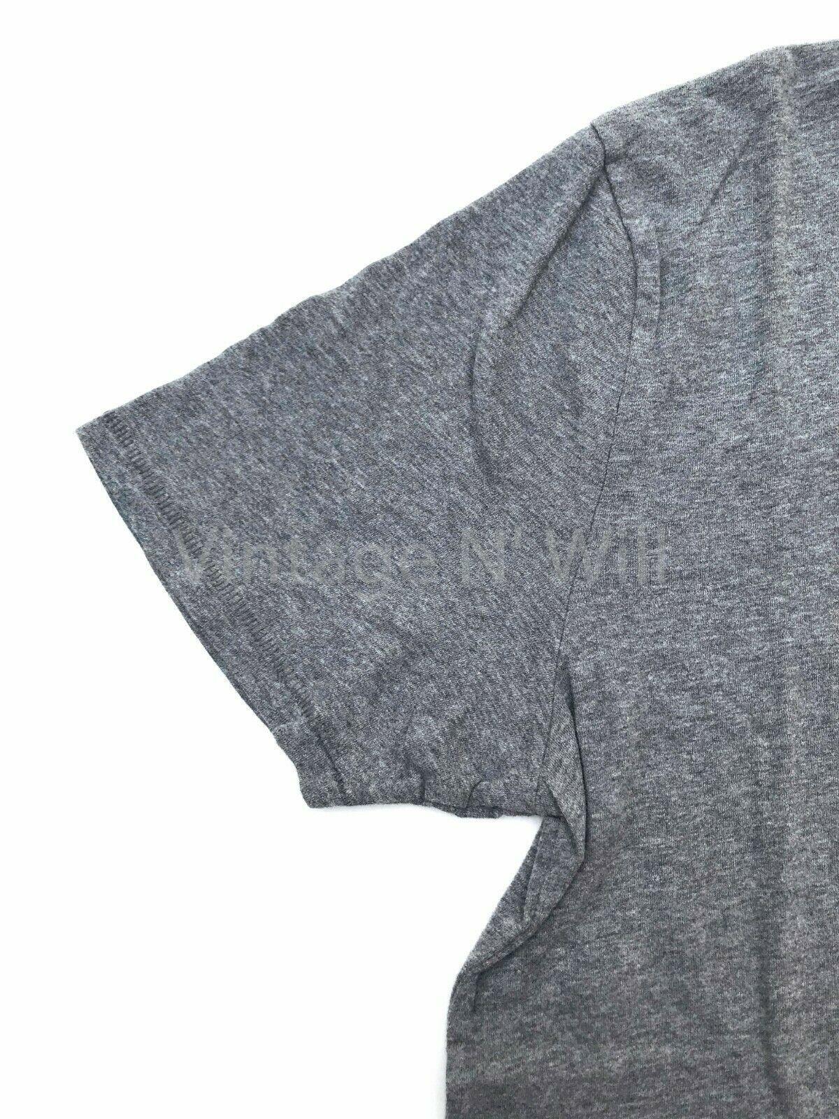 Abercrombie Fitch Jean Men Heather Grey Curved Hem Classic Logo Crewneck T-Shirt