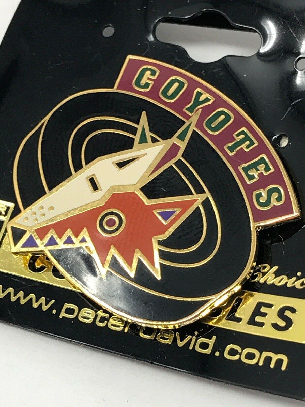NHL Phoenix Arizona Coyotes VTG Logo Pin Peter David Puck Coyote New NOS image 2