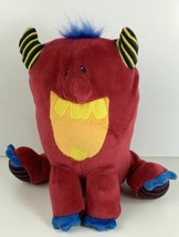 "Mary Meyer THUGZ Big Red Stuffed Monster 9"" Plush Boy Girl Blue Hair - $7.97"