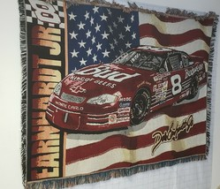 NASCAR Dale Earnhardt Jr #8 Northwest Company Woven Throw Blanket USED Cleaned - $42.51