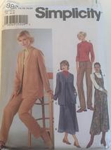 Dress, Cardigan, Knit Top and Pants Sewing Pattern - Simplicity 9874 - $7.00