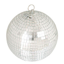 8 inch Mirror Ball Shiny Silver Mirrored Glass Ball Disco Party Decorations - $16.83