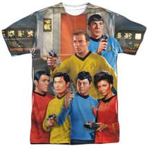Star Trek Classic Bridge Crew Sublimation Front & Back Print T-Shirt NEW... - $29.02+
