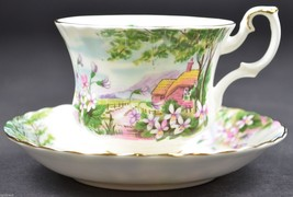 Royal Albert Country Scenes Collection Dingle Dell Footed Teacup & Sauce... - $44.99