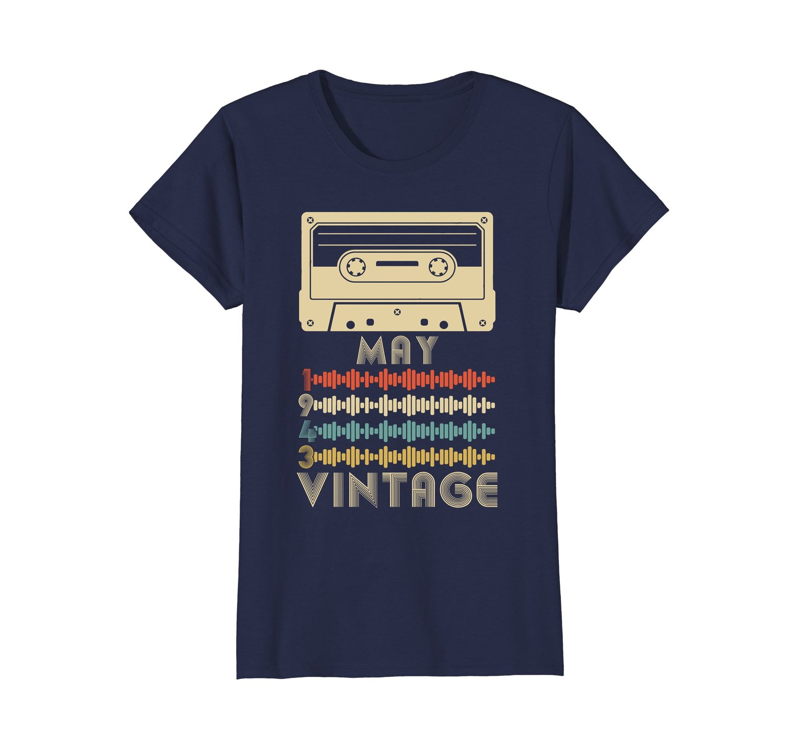 Funny Shirts - Vintage Retro Made In May 1943 75th Birthday Gift 75 yrs old Wowe image 4