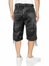 Men's Military Army Camo Camouflage Slim Fit Cargo Shorts With Belt - Size 40 image 2
