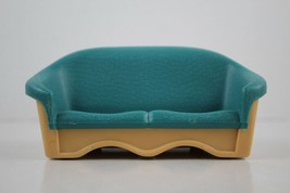 FISHER PRICE Loving Family Dollhouse Green Couch Settee - $4.94