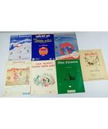 Vintage Christmas Sheet Music Various Arrangements Lot of 7 Piano Organ ... - $30.00