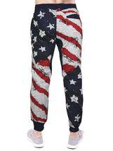 Men's US American Flag Athletic Zip Up Hoodie Jacket Jogger Pants Tracksuit Set image 5