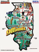 Illinois State Map Die Cut Sticker - $4.20