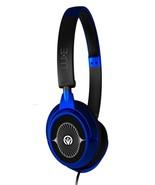 IFROGZ AUDIO LUXE HEADPHONES WITH MIC - BLUE - $9.89