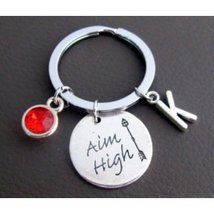 Aim High Keychain, Motivaltional Keychain,Aim High Jewelry, Inspirationa... - $9.00