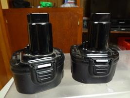LOT of (2) - DEWALT - 9.6V - CORDLESS TOOL - DW9062 BATTERY - WORKS WELL  - $37.99