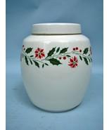 """Royal Doulton 7"""" Porcelain Ginger Jar - Holly Pattern - Retired - $32.45"""
