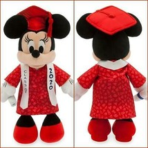 DISNEY PARKS MINNIE MOUSE GRADUATION PLUSH 2020 WITH SATIN RIBBON MORTAR... - $39.59