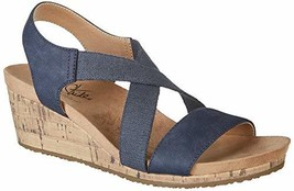 LifeStride Women's Mexico Wedge Sandal, Navy, 8.5 M US - $43.93