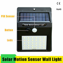 Led Solar Night Light PIR Motion Sensor Wall Light Waterproof 16/20/25/30 LEDs image 2