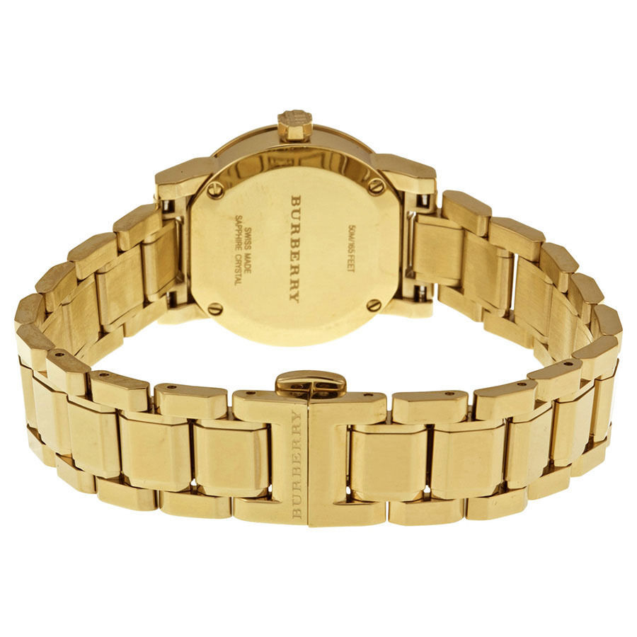 NEW Burberry  BU9227  Gold / Gold Stainless Steel Analog Quartz Women's Watch image 3