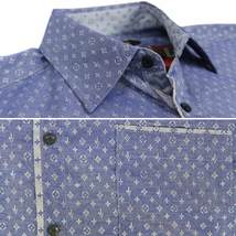 LW Men's Western Button Up Long Sleeve Designer Dress Shirt image 4