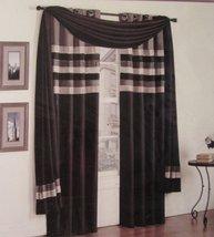 Wavelength Black Grey Off White 50 x 216 Window Scarf - $34.95